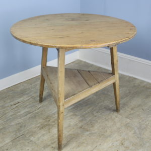 Antique Bleached Welsh Pine Cricket Table