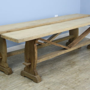 Pair of Antique Bleached Oak Benches
