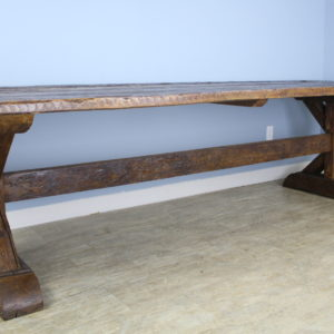 Very Long French Pine Refectory Table with Trestle Base ***November's STEAL!***