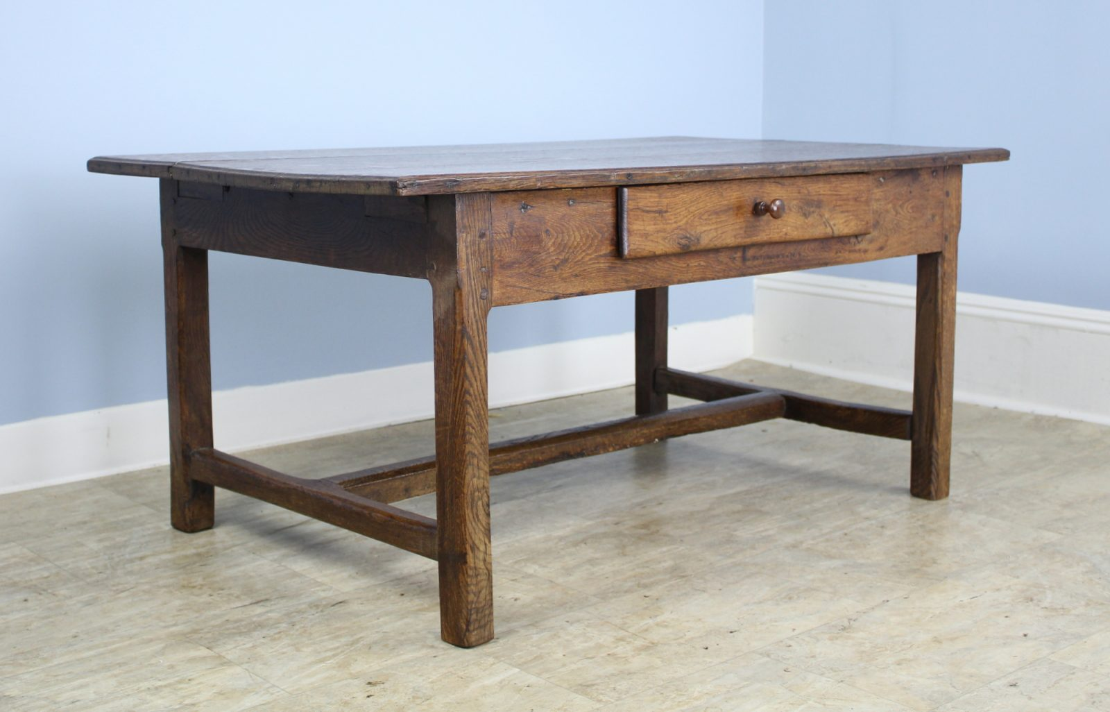 Antique Oak Trestle Based Coffee Table Briggs House Antiques
