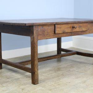 Antique Oak Trestle Based Coffee Table