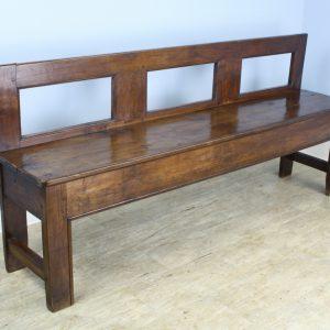 Antique French Chestnut Bench