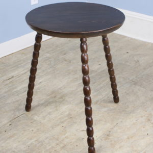 French Antique Oak Bobbin Leg Cricket Table