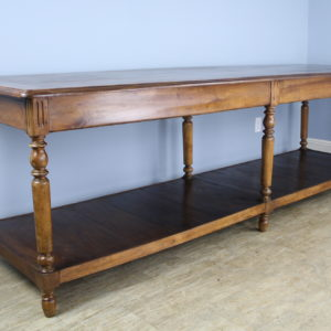 Antique French Walnut Drapers Table