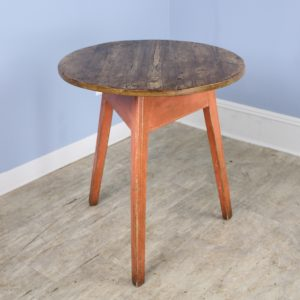 Antique Welsh Cricket Table with Painted Base
