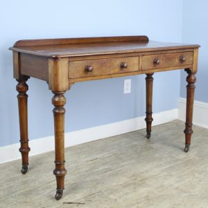 Antique English Mahogany Desk with Galleried Back