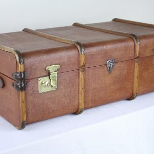 Vintage English Rexene Waterproof Canvas Travel Trunk