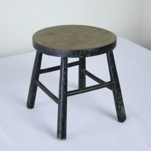 Antique Green Painted Milking Stool