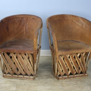"""Pair of Vintage Mexican Pig Skin """"Equipale"""" Chairs"""