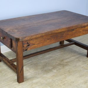 Antique Thick Top Elm Coffee Table