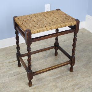 Tall Antique English String Stool