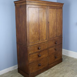 Antique Welsh Oak Linen Press