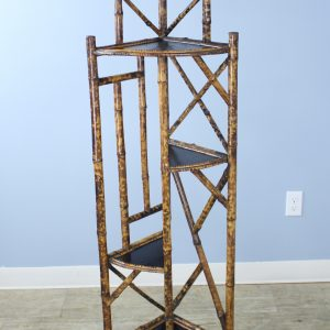 Antique Bamboo Etagiere or Plant Stand
