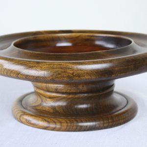 Antique Hand Turned Elm Serving Bowl
