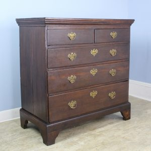 18th Century English Oak Chest of Drawers with Original Brasses