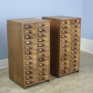 Pair of Antique Collector's Drawers in Pine