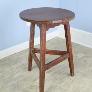Antique Welsh Pine Painted Base Cricket Table