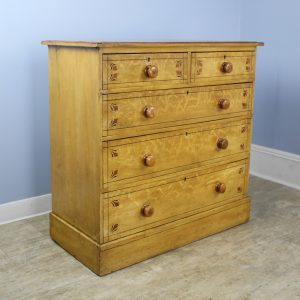 Antique Pine Cottage Chest of Drawers, Original Paint