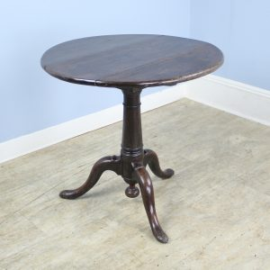 Early Georgian Period Oak Tripod Based Lamp Table
