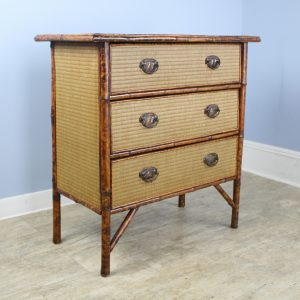 Antique Bamboo and Rattan Chest of Drawers