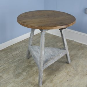 Welsh Cricket Table with Painted Base