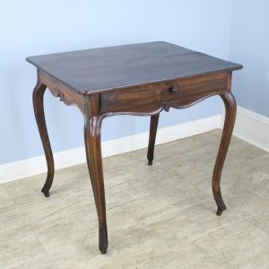 Antique French Walnut Cabriole Leg Side Table
