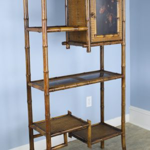 Antique Tall Bamboo Bookcase