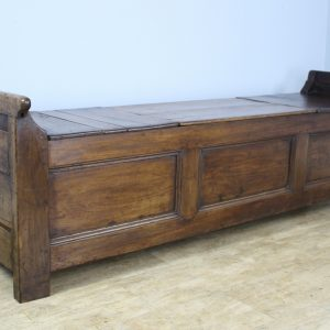 Antique Breton Chestnut Coffer