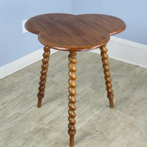 Irish Fruitwood Clover Top Gypsy Table