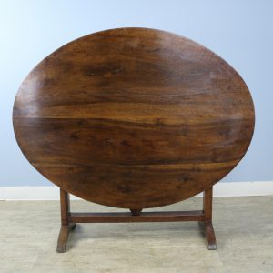 Antique Oval Walnut Vendange Table
