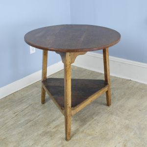 Antique Welsh Oak and Ash Cricket Table